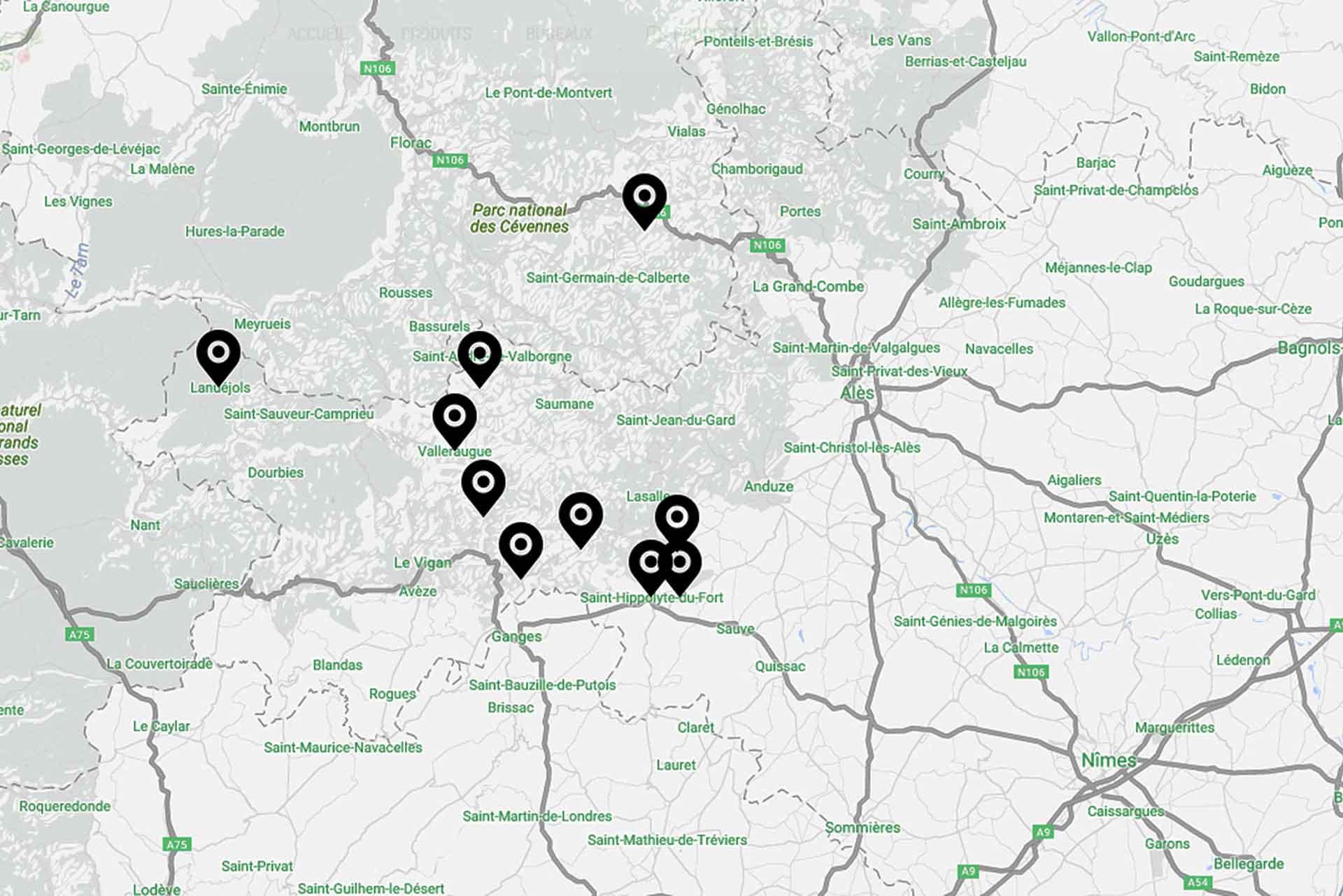Carte des Producteurs Locaux - Gardois